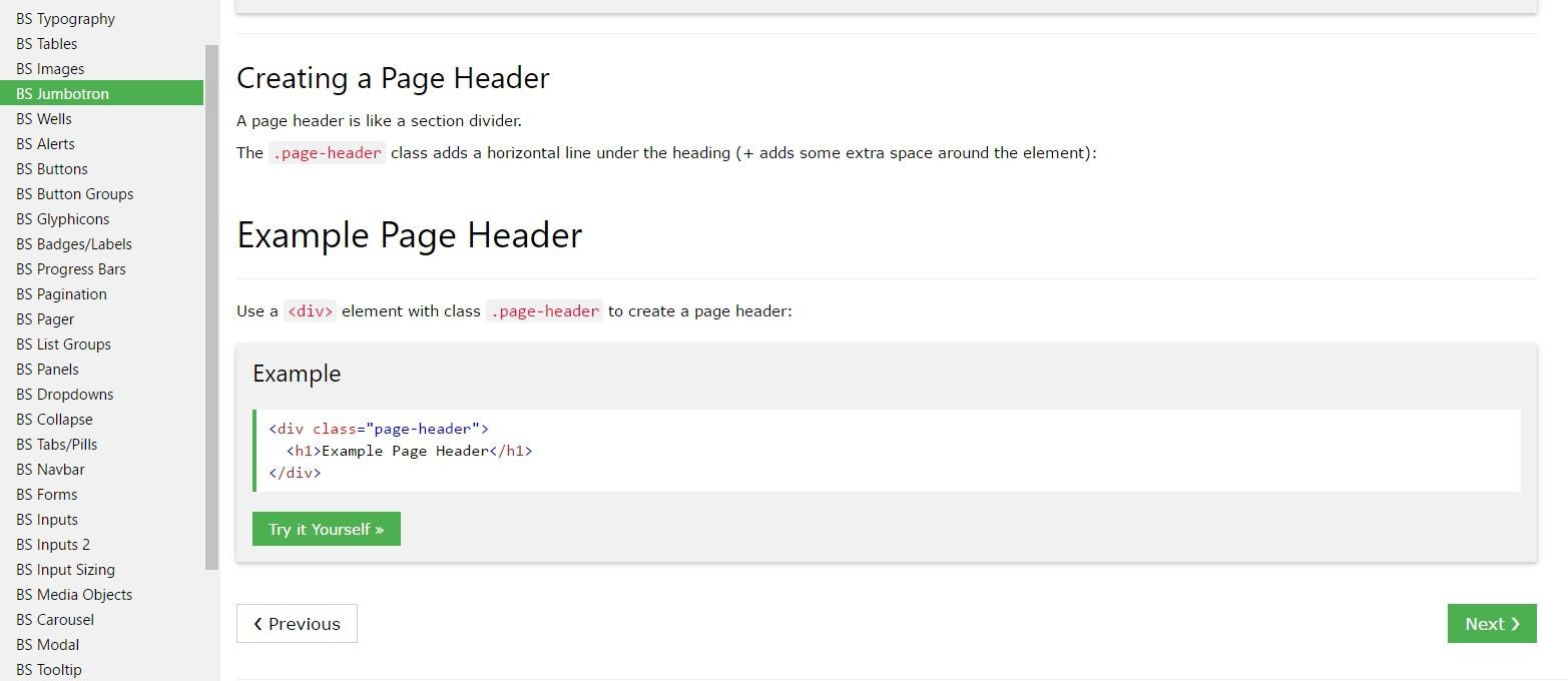 Bootstrap Header  article