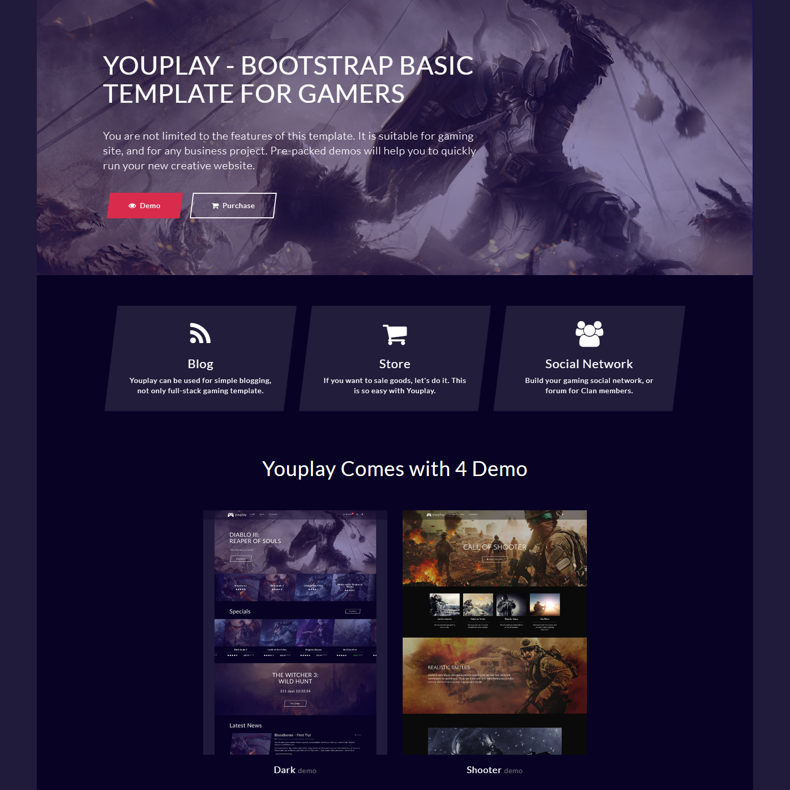 Free Bootstrap YouPlay Themes