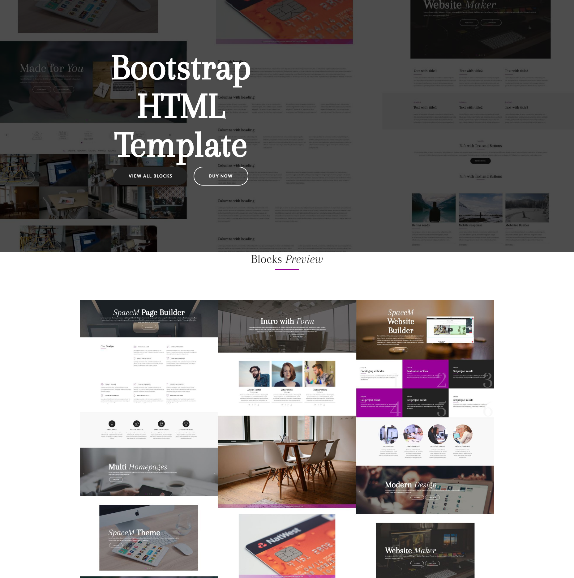 Free Bootstrap HTML Templates