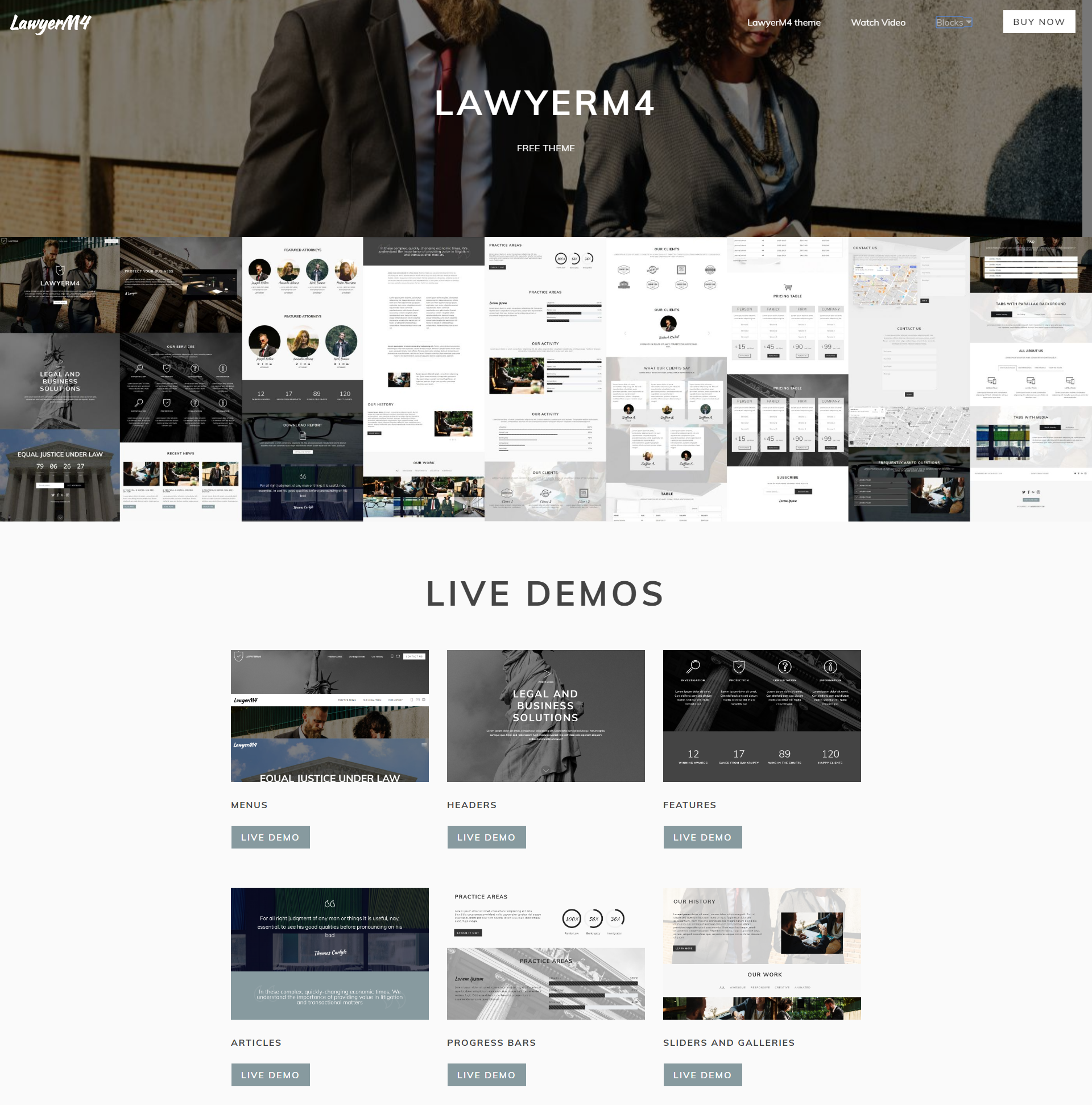 HTML5 Bootstrap LawyerM4 Templates