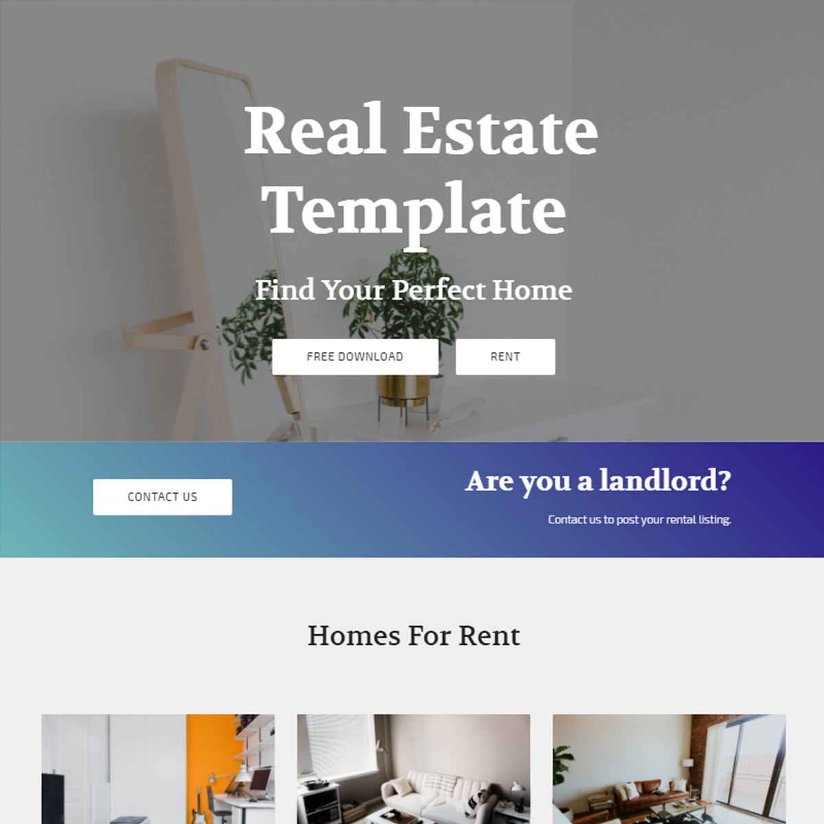 Free Bootstrap Real Estate Themes