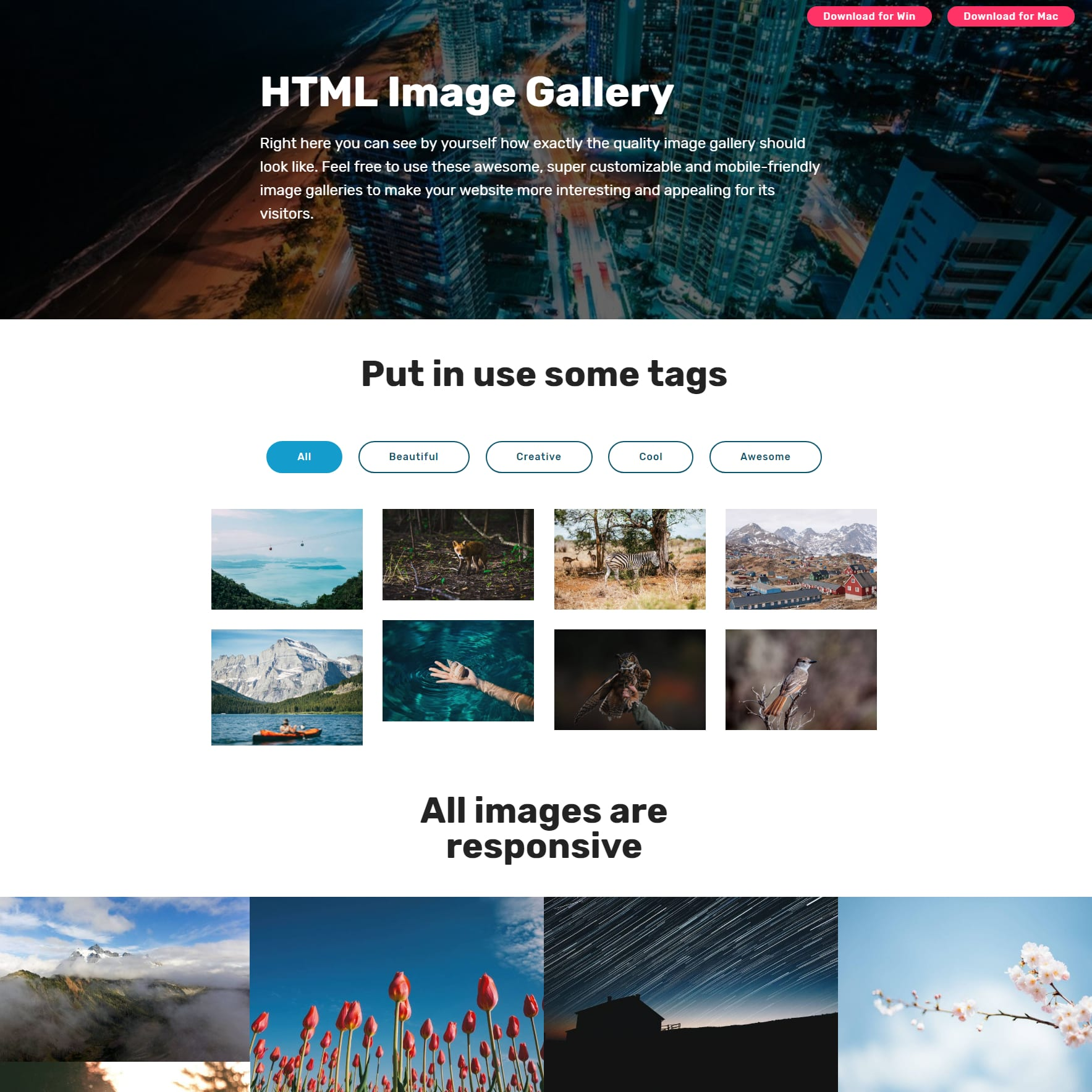 jQuery Bootstrap Photo Gallery